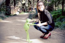 Laurel and Kermit. (Davis CA, 2015)