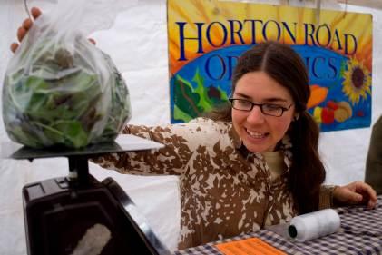 Saturday morning Farmers' Market with Horton Road Organics. (Eugene OR, 2007)
