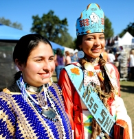Seventeen-year-olds Janessa Starkey, of Lincoln CA, and Leela Abrahamson, of Fort Hall, Idaho