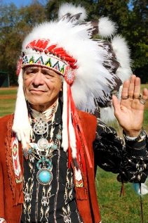 Little Foot, of the Apaches, is related to Geronimo, the famous Apache leader
